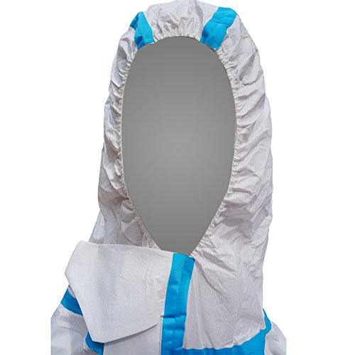 Raygard 30223 Disposable Chemical Protective Coverall Microporous Suit Taped Sealed Seams with Hood, Elastic Wrist, Ankles and Waist,Front Zipper Closure for Spray Paint Workwear(2X-Large, White) by Raytex (Image #4)