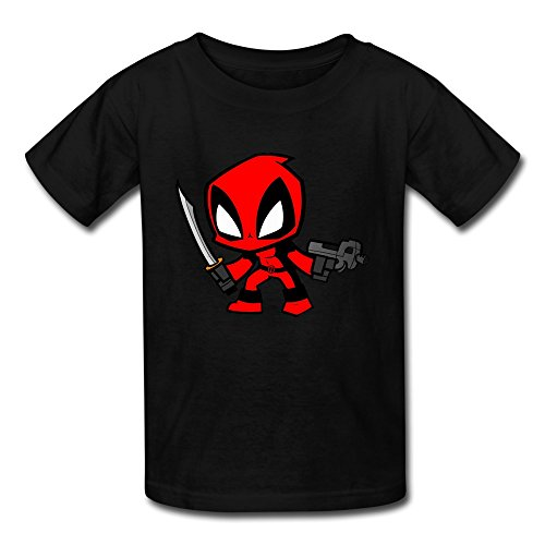 AOPO Deadpool Wade Wilson Shirt For Kids Unisex Small Black (Cheap Costume Ideas Halloween)
