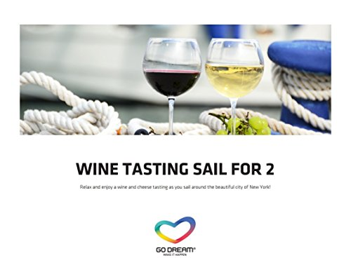 Wine Tasting Sail for Two in New York Experience Gift Card NYC - GO DREAM - Sent in a Gift Package