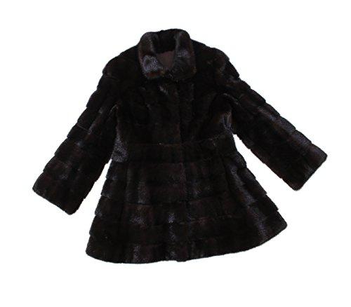 Bergama 710779 New Natural Mahogany Mink Fur Circular Stroller Coat Jacket (Mahogany Mink Fur Coat Jacket)