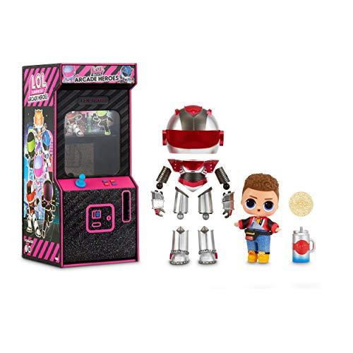 LOL Surprise Boys Arcade Heroes , Muñeco de Acción , Con 15 Sorpresas, Traje de Héroe de 6 Piezas y Accesorios
