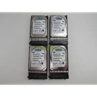Lot of 4 HP MBB2147RC 146GB 10K RPM 16MB 2.5 SAS Hard Drive 418399-001 + Tray