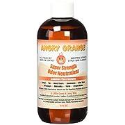 #LightningDeal 98% claimed: Angry Orange Pet Odor Eliminator 8 oz. bottle- Industrial Strength Pet Odor Remover - Makes (4) 32oz. Bottles - 1 Gallon - Neutralizes and Sanitizes Tough Pet Odors Fast