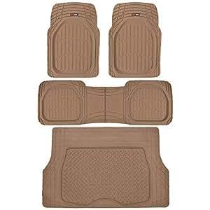 Amazon Com Motor Trend 4pc Beige Car Floor Mats Set