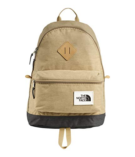 - The North Face Unisex Mini Berkeley Backpack Kelp Tan Dark Heather/Asphalt Grey Light Heather One Size