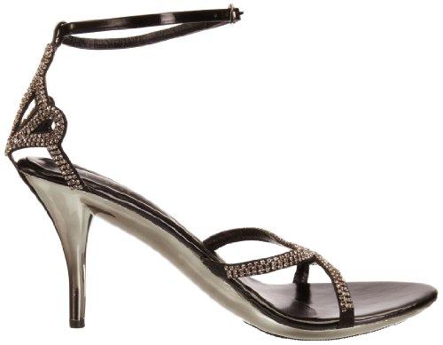 Unze Evening Sandals L18214W - Sandalias para mujer Negro