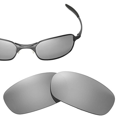 Cofery Replacement Lenses for Oakley Square Wire 2.0 Sunglasses - Multiple Options Available (Titanium - Mirror Coated - 2.0 Polarized Square Lenses Wire Oakley
