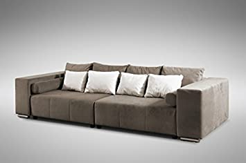Modernes Schlafsofa Sofa Couch Big Sofa In Braun Schlaffunktion