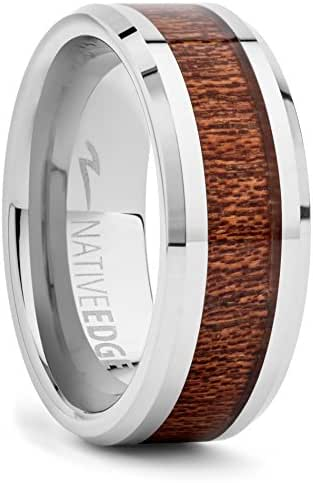 """TUNGSTEN KOA RING - """"Holds the SECRETS OF how to get double takes from your SIGNIFICANT OTHER!"""""""