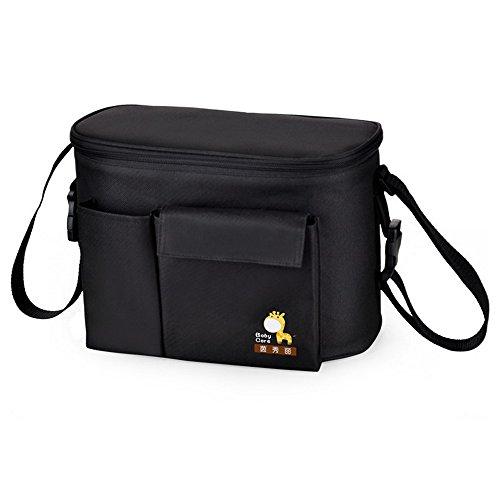 Baby Diaper Tote Bag Waterproof Insulation Stroller Mummy Shopping Handbag with Bottle Pockets Shoulder Bag - Mall Plaza Fashion