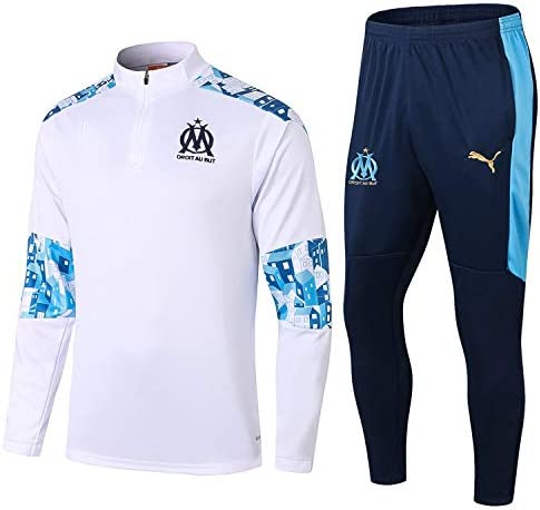 Tops + Pantalones LQRYJDZ Marsella 20-21 New Temporada F/útbol para Hombre Ch/ándal de f/útbol Fans F/útbol Jersey Uniform Sportswear-Football Club Transpirable y de Secado r/ápido Jersey