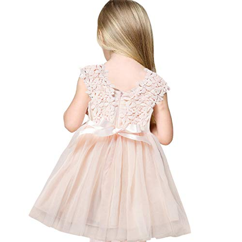 Girls Dresses For Weddings (SOVIKER Baby Girls Princess Flower Dress Sleeveless Lace Tutu Gown Bridesmaid Party Wedding Birthday)