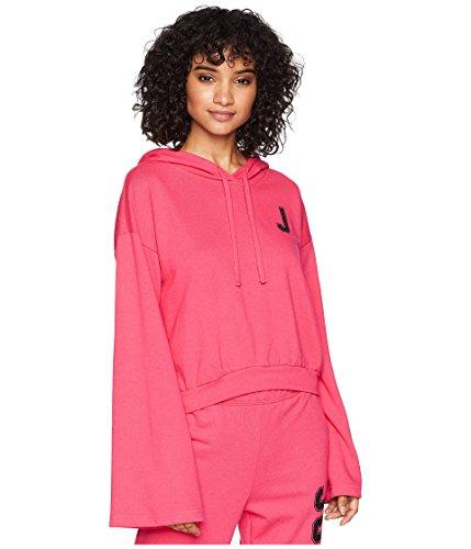 Juicy Couture Women's J Pullover Hoodie Raspberry Sorbet X-Large