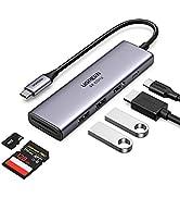 UGREEN USB C Hub 4K 60Hz met Power Delivery USB C Adapter Compatibel met MacBook, iPad Pro