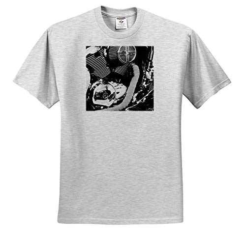 Stamp City - Autos - Photograph of a Reflection of Classic car in a Motorcycle Engine. - T-Shirts - Toddler Birch-Gray-T-Shirt (3T) (ts_289759_32) ()