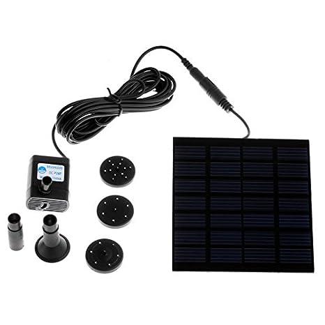 EverTrust (TM) Acuario sumergible Bomba Solar para el ciclo del agua/estanque pluma estilográfica/Rockery fuente jardín bombas de aire de refrigeración para ...