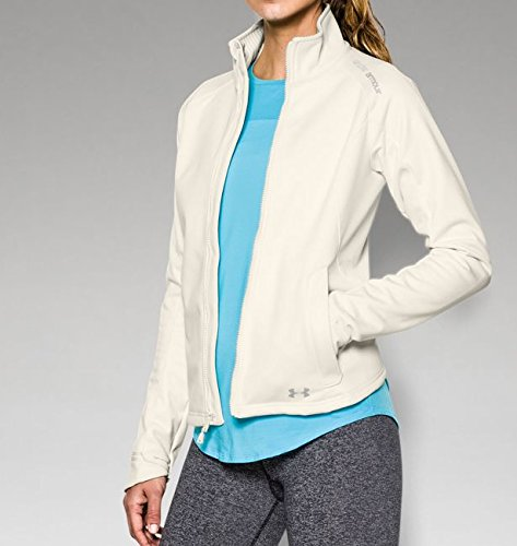 Under Armour Women's UA ColdGear Infrared Softershell Jacket, Ivory Steeple Gray, MD (US 8-10)