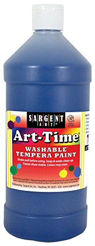 32 oz Blue Art-Time Washable Tempera Paint - Sargent Art 17-3550