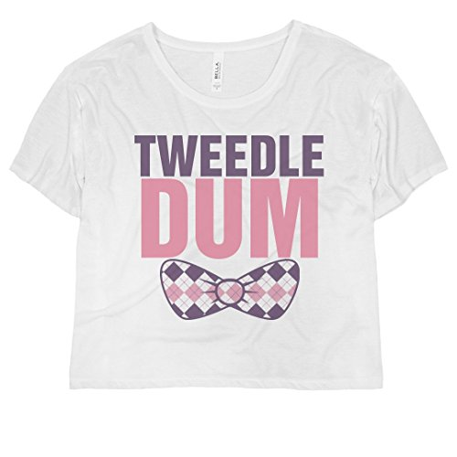 Tweedle Dum Bow: Bella Ladies Flowy Boxy Cropped Tee Bow Girls T-shirt