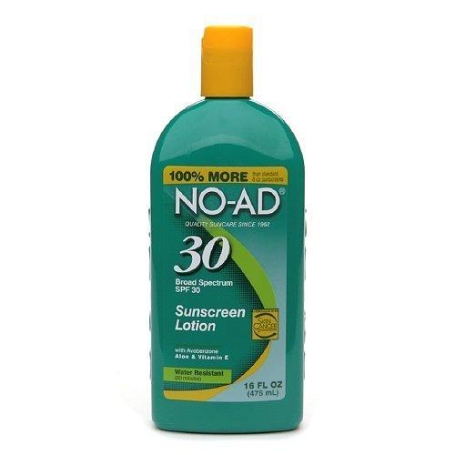 NO-AD Sunscreen Lotion, (SPF 30) 16 fl (No Ad Sunscreen Lotion)