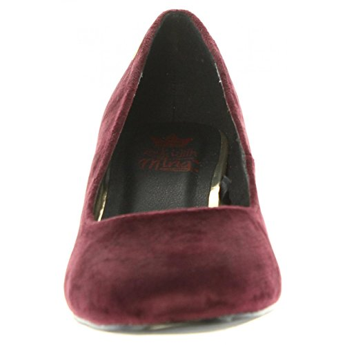 Tacón C38397 Zapatos 58439 Mujer De Burdeos Mtng 5fvXw