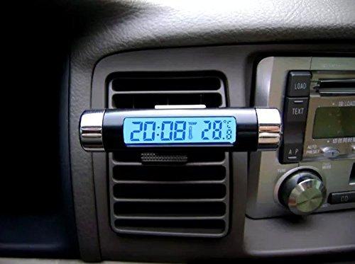 Goliton® Sortie d'air Type d'agrafe Auto voiture Horloge électronique Compteur de température, Thermomètre voiture-Noir Thermomètre voiture-Noir CAR.T04.CCL.031.XXB