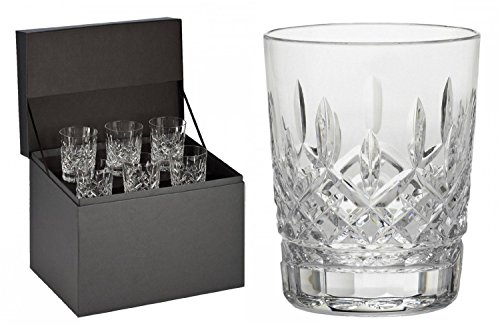 Waterford Lismore Double Old Fashioned Glasses, Deluxe Gift Box Set of 6 DOF ()
