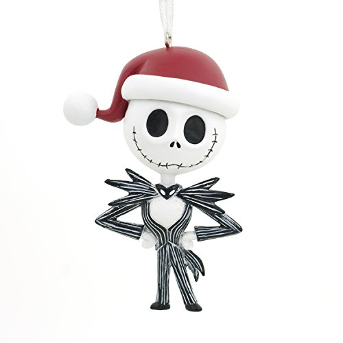 Hallmark Ornament Disney Nightmare Before Christmas Jack Skellington Santa Hat, Jack Skellington, Jack Skellington