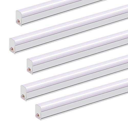 (10 Pack) JESLED LED T5 Integrated Single Fixture, 4FT Ceiling Light and Under Cabinet Light, 20W, 2300lm, 6500K(Super Bright White), Linkable Utility Shop Light with Plug Cord Built-in ON/Off Switch