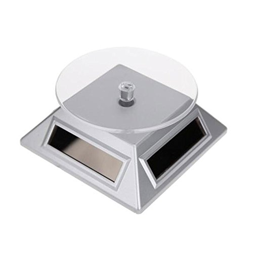 TOPmountain Solar 360° Turntable Rotating Showcase Jewelry Watch Bracelet Display Stand Mount Holder Digital Solar Bracelet