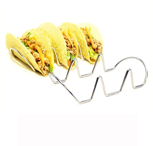 Hot Sauce Costume Taco Bell - Mikey Store Stainless Steel Taco Shell Holder Stand Set (2 pcs, B)