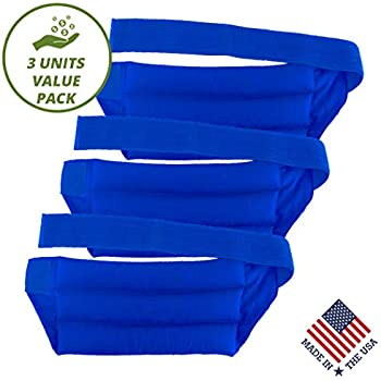 My Heating Pad Set of 3 Microwavable Back Pain Relief Packs with Full Waist Wrap   Perfect for Lower Back Pain Relief, Cramps, and Lumbar Pain   Natural Back Pain Relief (Purple - Value Pack)