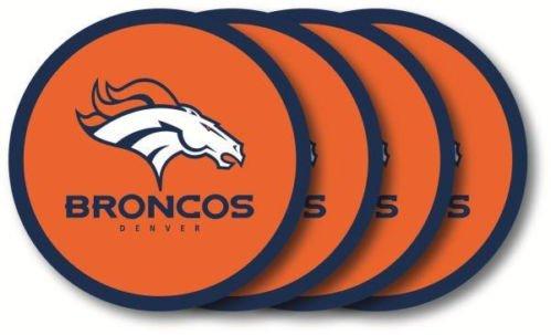Nfl Duck - Denver Broncos NFL Vinyl Coaster Set Brand New by Duck House
