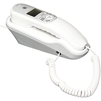 ATu0026T TR1909 Trimline Corded Phone With Caller ID, White