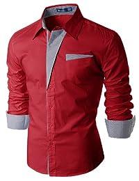Doublju Mens Casual Slim Fit Dress Shirts