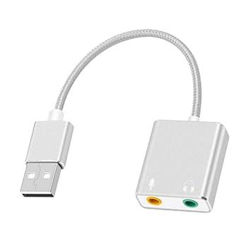Tarjeta de Sonido Externa USB Adaptador de Audio External ...