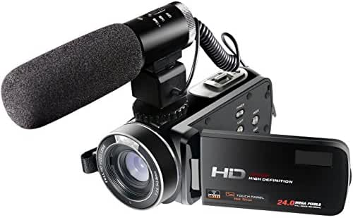 Besteker Z20 Wi-Fi Camcorder Full HD 1080P 30FPS Portable Digital Video Camera with External Microphone (HDV-Z20)