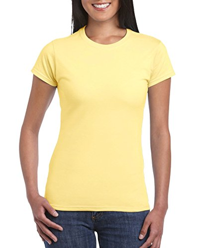 Gildan Softstyle Ladies Camiseta Ajustada Rosa
