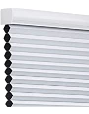 Changshade Cordless & Blackout Cellular Shade, Pleated Honeycomb Shade with The Diameter of 1.5 inch honeycombs, Room Darkening Window Shade, 20 inches Wide, White CEL20WT48C