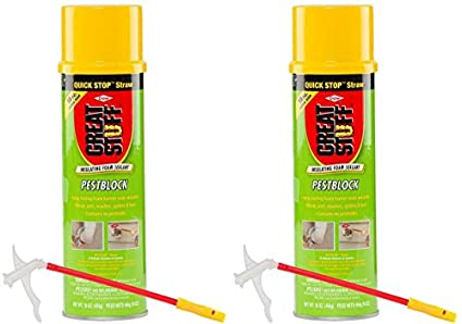 Great Stuff 16 Ounce  Pestblock Insulating Foam Sealant with Quick Stop  Straw (2-Pack)
