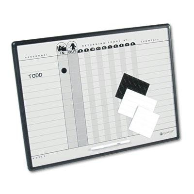 Quartet - Magnetic Employee In/Out Board Porcelain 24 X 18 Gray/Black Aluminum Frame ''Product Category: Presentation/Display & Scheduling Boards/Planning Boards/Schedulers'' by Original Equipment Manufacture