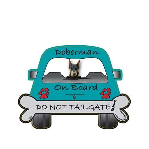 Doberman Tailgate Custom Shaped Magnet