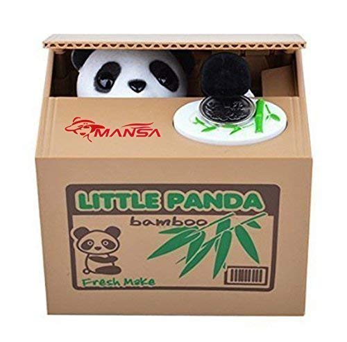 Mansalee Cute Stealing Money Box Panda Bank Money Bank Piggy Bank Coin Bank (Panda)