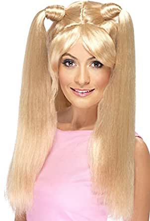 Smiffy's Women's Girl Power Baby Blonde Wig with High Ponytails, One Size, Power Wig, 5020570420577