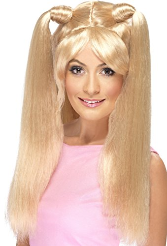 Smiffy's Women's Girl Power Baby Blonde Wig with High Ponytails, One Size, Power Wig, - Costumes Baby Spice