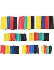 Heat Shrink Tube 2:1 PE Waterproof Electrical Wire Cable Wrap Assortment Heat Insulation Shrink Tubing Kit for DIY Wiring Harness 328PCS
