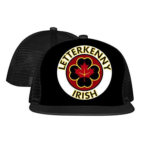 PGtwo Fashion Letterkenny Irish Trucker Hat Unisex 3D Printing Adjustable Mesh Cap Black