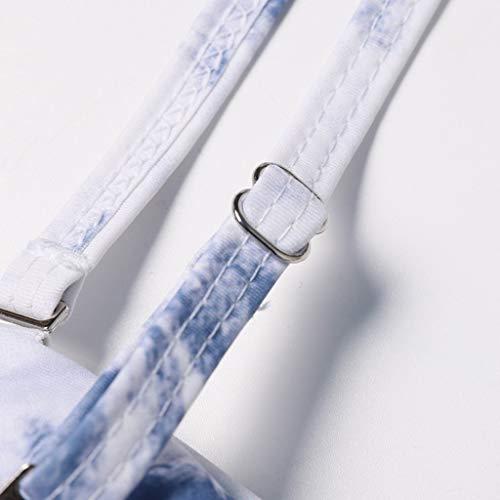 Allywit Women's Tube Top Split Print Swimsuit Stitching Swimsuit Swimsuit Bikini by Allywit -women swimwear (Image #3)