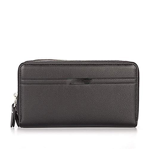 Wallets Men Business Big Capacity Purse Double Zipper Poucht Coin Pocket Applied Man's Wallet Credit Card Holder ()