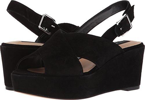 STEVEN by Steve Madden Women's Sol Heeled Sandal, Black Suede, 9.5 M US